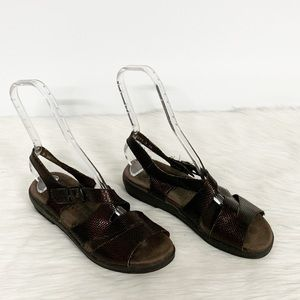 Mephisto | Brown Strappy Comfort Sandals 38
